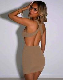 Φόρεμα - κώδ. 11965 - μπεζ