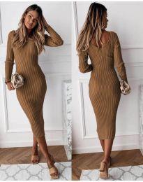 Φόρεμα - κώδ. 928 - καφέ