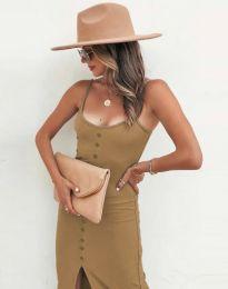 Φόρεμα - κώδ. 8841 - καπουτσίνο