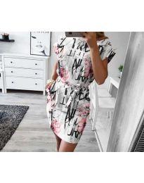 Φόρεμα - κώδ. 1021 - λευκό