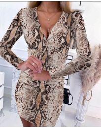 Φόρεμα - κώδ. 6465 - 4 - πολύχρωμο