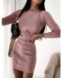 Φόρεμα - κώδ. 4453 - 1 - πούδρα