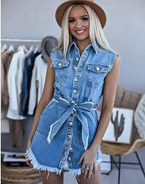 Φόρεμα - κώδ. 3699 - 1 - μπλε
