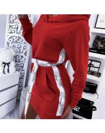 Φόρεμα - κώδ. 4483 - κόκκινο