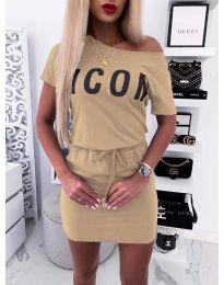Φόρεμα - κώδ. 9905 - μπεζ