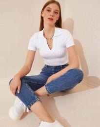 Κοντομάνικο μπλουζάκι - κώδ. 13033 - λευκό