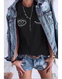 Κοντομάνικο μπλουζάκι - κώδ. 948 - μαύρο