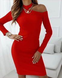 Φόρεμα - κώδ. 4859 - κόκκινο