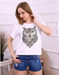 Κοντομάνικο μπλουζάκι - κώδ. 3541 - λευκό