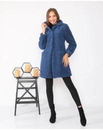 Παλτό - κώδ. 1615 - 1 - μπλε