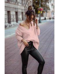 Πουλόβερ - κώδ. 5952 - ροζ