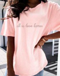 Κοντομάνικο μπλουζάκι - κώδ. 36755 - ροζ