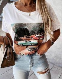 Κοντομάνικο μπλουζάκι - κώδ. 2460 - λευκό