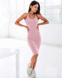 Φόρεμα - κώδ. 11926 - ροζ