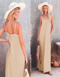 Φόρεμα - κώδ. 4673 - μπεζ
