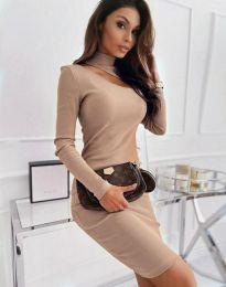 Φόρεμα - κώδ. 11441 - μπεζ