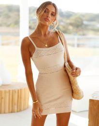 Φόρεμα - κώδ. 10099 - μπεζ