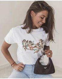 Κοντομάνικο μπλουζάκι - κώδ. 580 - λευκό
