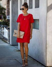 Φόρεμα - κώδ. 4408 - κόκκινο