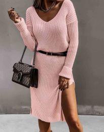 Φόρεμα - κώδ. 6829 - ροζ