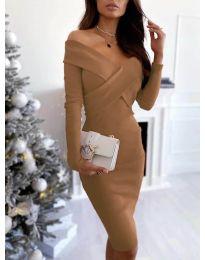 Φόρεμα - κώδ. 6130 - καφέ