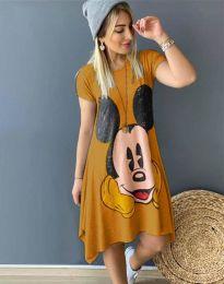 Φόρεμα - κώδ. 2304 - 2 - μουσταρδί