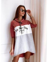 Φόρεμα - κώδ. 9090-1 - πολύχρωμο