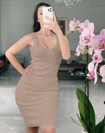 Φόρεμα - κώδ. 10122 - καφέ