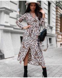 Φόρεμα - κώδ. 5555 - 3 - λευκό