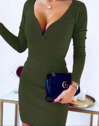 Φόρεμα - κώδ. 12065 - 4 - λαδί