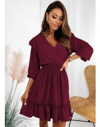 Φόρεμα - κώδ. 8554 - μπορντό