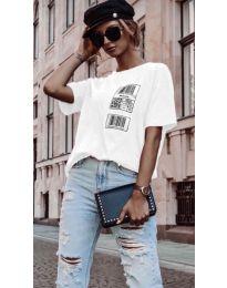 Κοντομάνικο μπλουζάκι - κώδ. 963 - λευκό