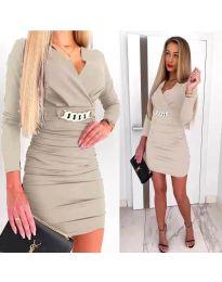 Φόρεμα - κώδ. 8999 - μπεζ