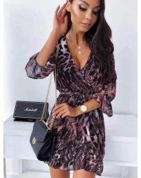 Φόρεμα - κώδ. 7677 - 1 - πολύχρωμο