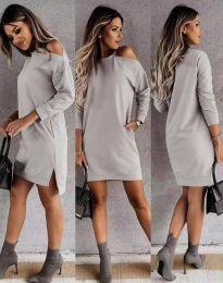 Φόρεμα - κώδ. 8858 - γκρι