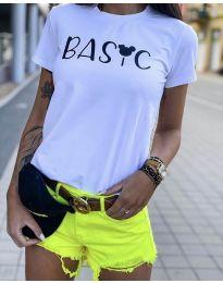 Κοντομάνικο μπλουζάκι - κώδ. 3017  - 1 - λευκό