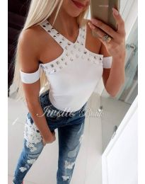 Κοντομάνικο μπλουζάκι - κώδ. 419 - λευκό