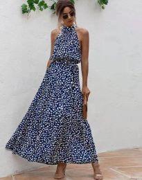 Φόρεμα - κώδ. 6214 - σκούρο μπλε