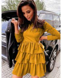 Φόρεμα - κώδ. 3109 - μουσταρδί