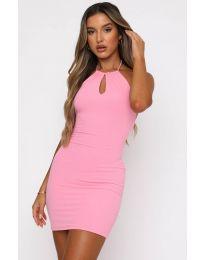 Φόρεμα - κώδ. 11936 - ροζ