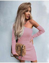 Φόρεμα - κώδ. 4933 - ροζ