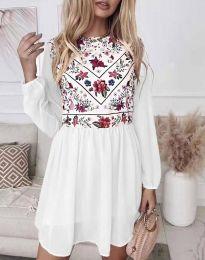 Φόρεμα - κώδ. 3482 - λευκό