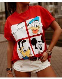 Κοντομάνικο μπλουζάκι - κώδ. 964 - 2 - κόκκινο