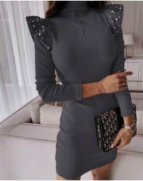 Φόρεμα - κώδ. 9494 - σκούρο γκρι
