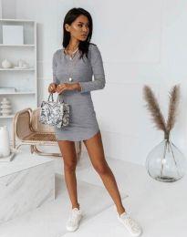 Φόρεμα - κώδ. 8856 - γκρι