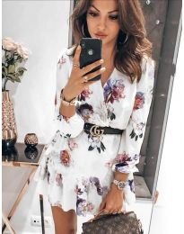 Φόρεμα - κώδ. 5514 - 4 - λευκό