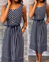 Φόρεμα - κώδ. 5678 - 1 - σκούρο μπλε