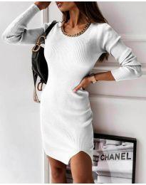 Φόρεμα - κώδ. 4545 - λευκό