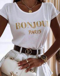 Κοντομάνικο μπλουζάκι - κώδ. 0777 - λευκό
