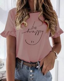 Κοντομάνικο μπλουζάκι - κώδ. 1038 - ροζ